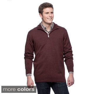 Men's Cashmere Silk 1/4 Zip Pullover Sweater