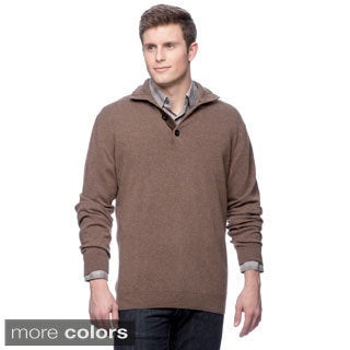 Luxury 100-percent Cashmere Mock Neck Sweater