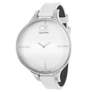 Calvin Klein Women's 'Glow' Stainless Steel White Dial Swiss Quartz Watch
