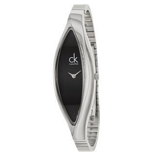 Calvin Klein Women's 'Sensitive' Stainless Steel Black Dial Swiss Quartz Watch