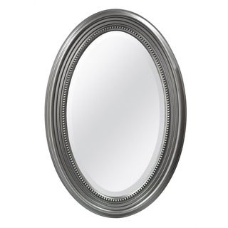 Silver Beaded Oval Wall Mirror
