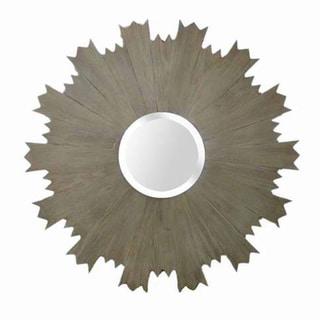 Round Gear Framed Mirror