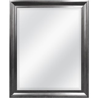 Aged Pewter Rectangular Wall Mirror