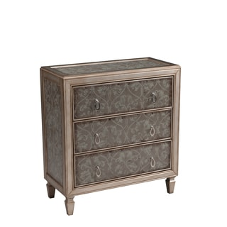 Christopher Knight Home Edom Silver Three Drawer Chest