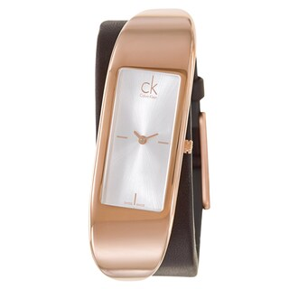 Calvin Klein Women's 'Embody' Stainless Steel Rose Gold PVD Coated Swiss Quartz Watch