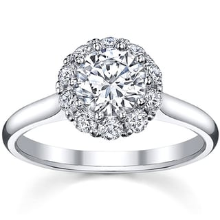 18k White Gold 1 3/8ct TDW Diamond Engagement Ring