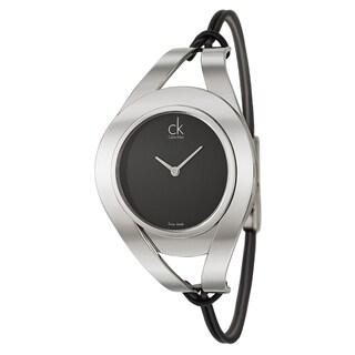 Calvin Klein Women's 'Sophistication' Stainless Steel Black Dial Swiss Quartz Watch