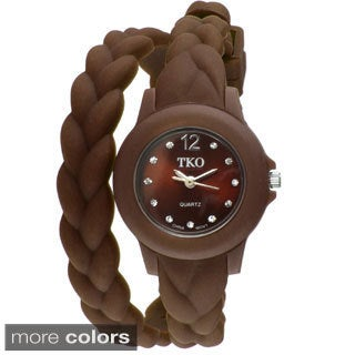 TKO Orlogi Women's Braided Double Wrap Analog Display Watch