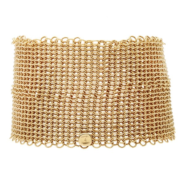 Pre Owned 18k Yellow Gold Elsa Peretti Mesh Bracelet By Tiffany
