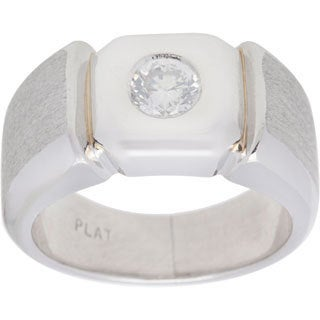 Pre-owned Platinum 3/5ct TDW Solitaire Pinky Estate Ring (G-H, SI1-SI2)