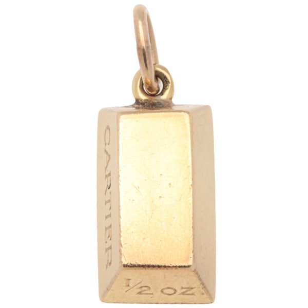 1efa9a96eea00 Shop Pre-owned Cartier 18k Yellow Gold Bar Charm Pendant - Free ...