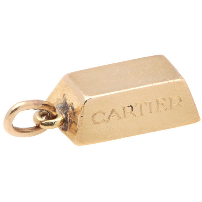 0a8f390739948 Pre-owned Cartier 18k Yellow Gold Bar Charm Pendant