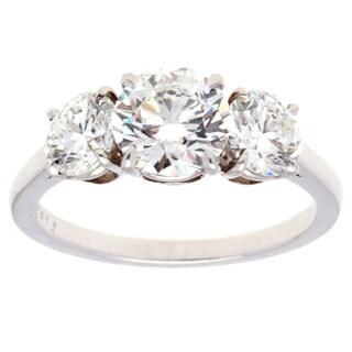 Pre-owned Platinum 2ct TDW Diamond Estate Engagement Ring Size 5.75 (G-H, VS1-VS2)