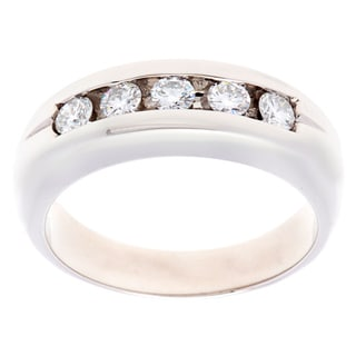 Pre-owned Platinum 3/5ct TDW 5-stone Diamond Estate Ring (H-I, VS1-VS2)