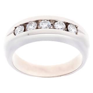 Pre-owned Platinum 3/5ct TDW 5-stone Diamond Estate Ring (H-I, VS1-VS2)|https://ak1.ostkcdn.com/images/products/9626142/P16812256.jpg?impolicy=medium