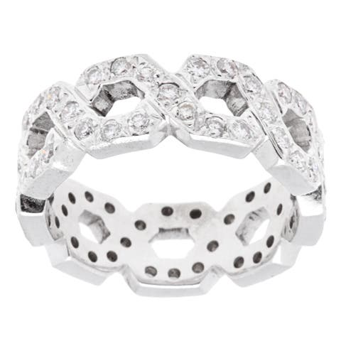 14k White Gold 2ct TDW Chain Patterned Diamond Band Estate Ring (H-I, SI1-SI2)