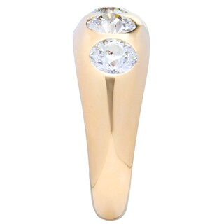 Pre-owned 14k Yellow Gold 2 1/3ct TDW 3-stone Diamond Ring (H-I, SI3)