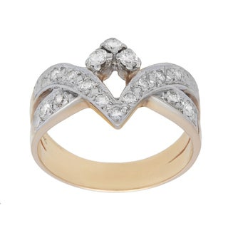 Pre-owned 14k Yellow Gold 1/2ct TDW Diamond Chevron Estate Ring (H-I, SI1-SI2)