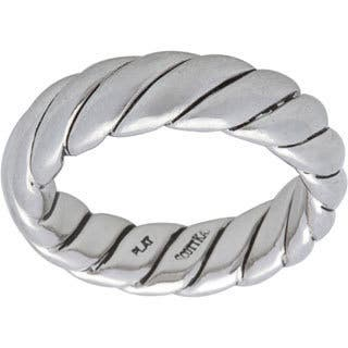 Pre-owned Scott Kay Platinum Men's Rope Estate Ring (Size 9)|https://ak1.ostkcdn.com/images/products/9626191/P16812303.jpg?impolicy=medium