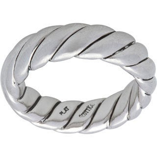 Pre-owned Scott Kay Platinum Men's Rope Estate Ring (Size 9)