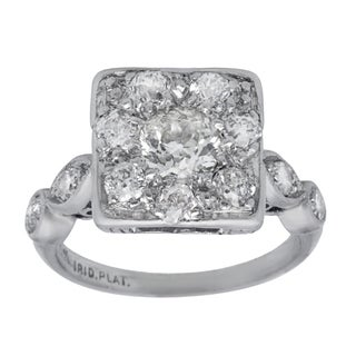 Pre-owned Platinum 1 1/4ct TDW Diamond Antique Estate Engagement Ring (G-H, SI3)