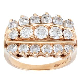 Pre-owned 14k Yellow Gold 2 1/2ct TDW 3-row Diamond Estate Ring (G-H, SI1-SI2) (Size 6) https://ak1.ostkcdn.com/images/products/9626219/P16812328.jpg?impolicy=medium