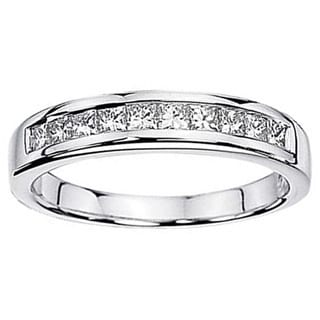 Elora 1.15 Carat 14k White Gold Princess Diamond Wedding Ring