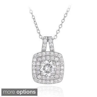 ICZ Stonez Silver 2 1/5ct TGW Cubic Zirconia Necklace
