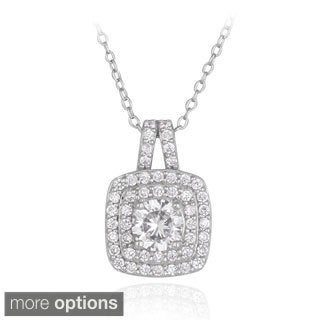 ICZ Stonez Silver 2 1/5ct TGW Cubic Zirconia Necklace