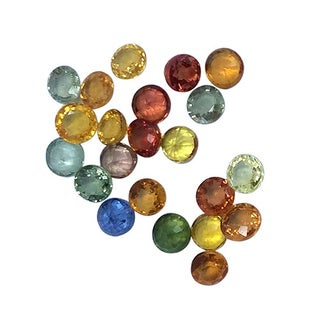 Loose 5ct TGW Round-cut Multi-color Sapphire Mixed Stones
