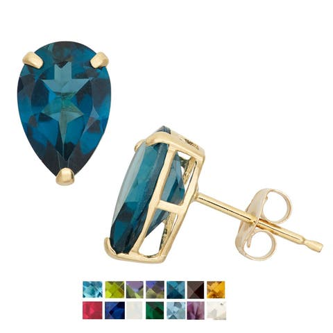 Gioelli 10k Yellow Gold Birthstone Stud Earrings