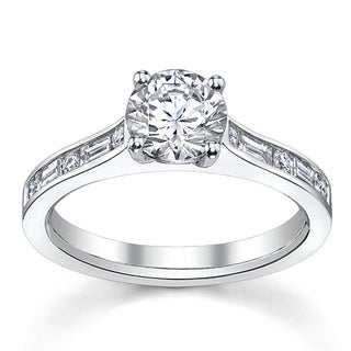 14k White Gold 3/4ct TDW Custom Diamond Engagement Ring