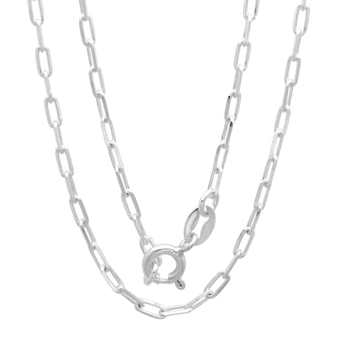 Roberto Martinez Sterling Silver Boston Link Chain Necklace (2 mm)