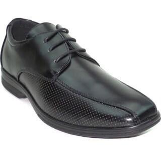 """Blue Men's """"Noah"""" Shiny Faux Leather Dress Shoe (5 options available)"""