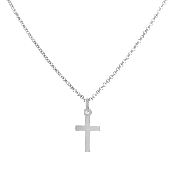 Sterling Essentials Silver Classic Cross Necklace