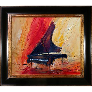 Justyna Kopania 'Piano' Framed Canvas Print