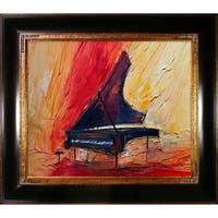 Justyna Kopania 'Piano' Framed Canvas Print