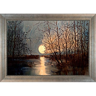Justyna Kopania 'Moon' Framed Canvas Print