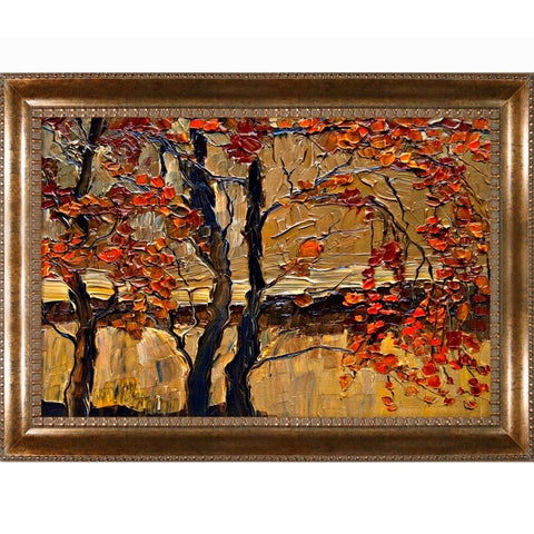 Justyna Kopania 'Autumn (tree)' Framed Canvas Print