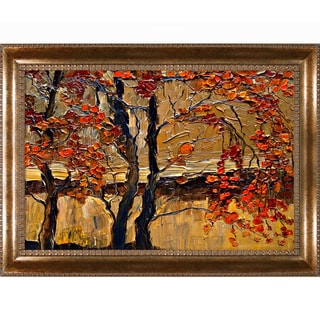 Justyna Kopania 'Autumn (tree)' Framed Canvas Print