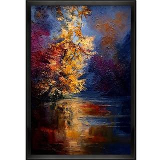 Justyna Kopania 'River' Framed Canvas Print