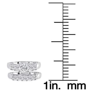 Elora 14k White Gold 1 3/8ct TDW Diamond Bridal Ring Set (H-I, I1-I2)