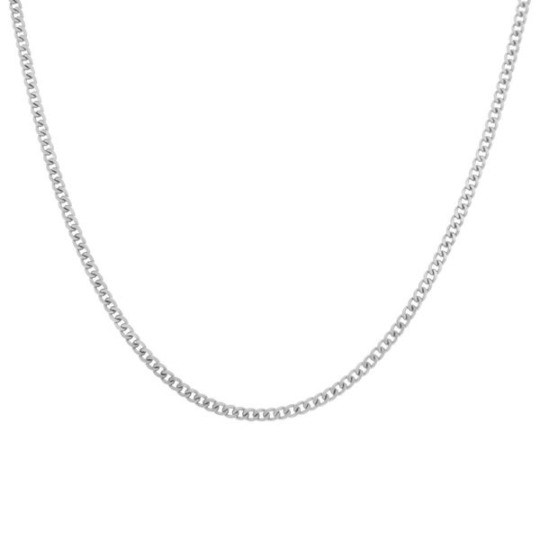 Sterling Essentials Sterling Silver Curb Chain Necklace (2 mm)