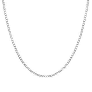 Sterling Essentials Sterling Silver Curb Chain Necklace