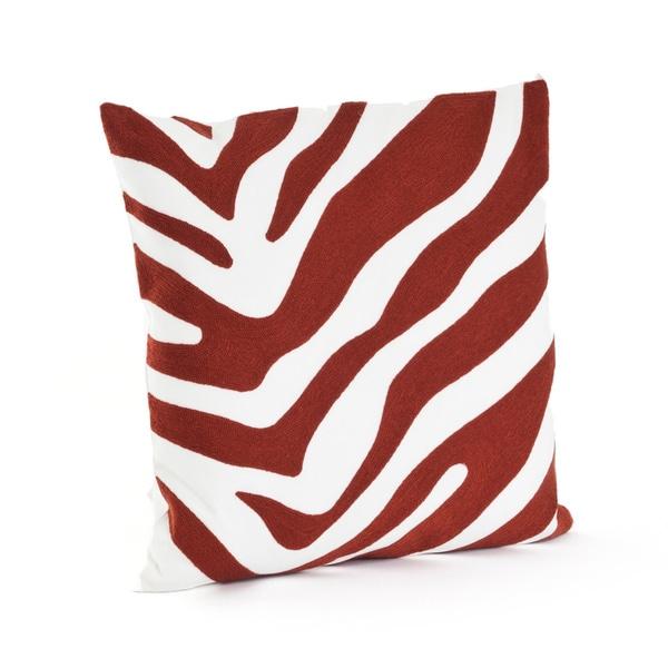 Zebra Design 17-inch Down Filled Throw Pillow