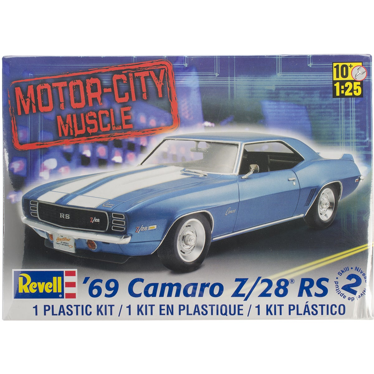 REVELL-MONOGRAM Plastic Model Kit-'69 Camaro Z/28 1/25 ('...