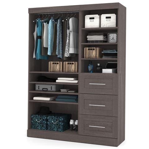 """Pur by Bestar 61-inch Classic Complete Closet Organizer Kit - 61"""""""