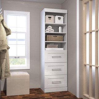 Pur by Bestar 25-inch Storage Unit with 3-drawer Set