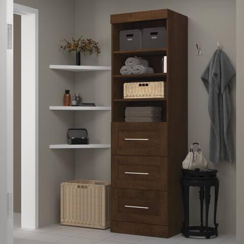 Pur by Bestar 25-inch Storage Unit with 3-drawer Set