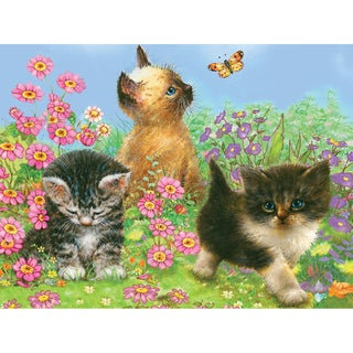 "Color Pencil By Number Kit 8.75""X11.75""-Kittens"